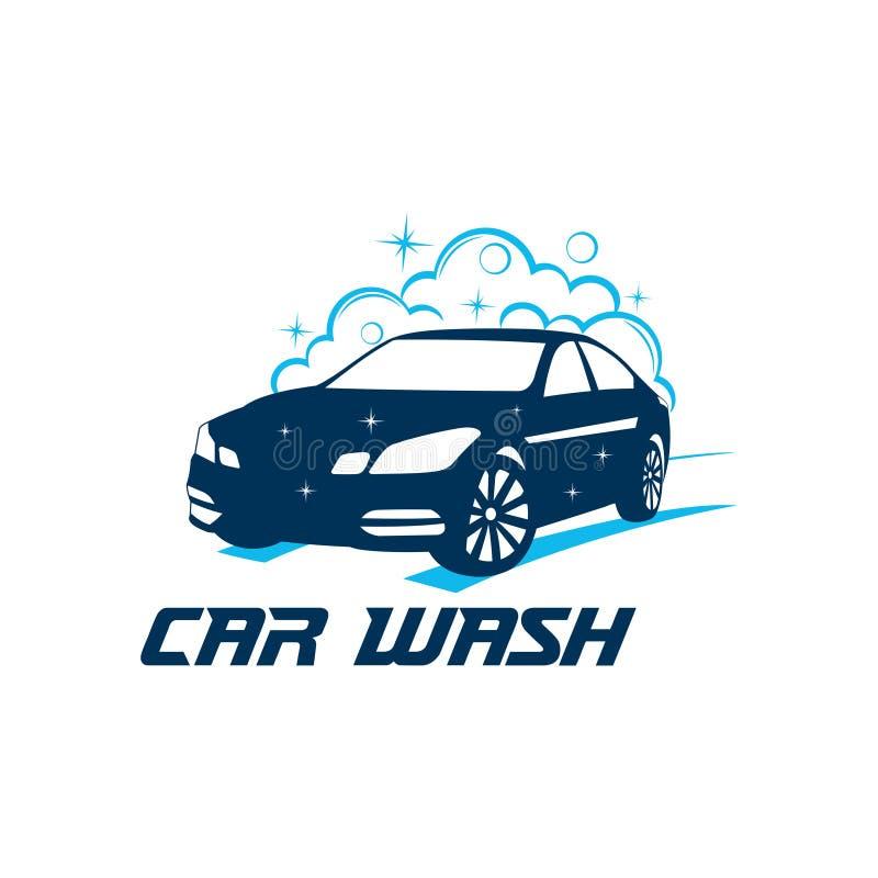 inspiration ou illustration de conception de logo de vecteur de service de station de lavage illustration stock