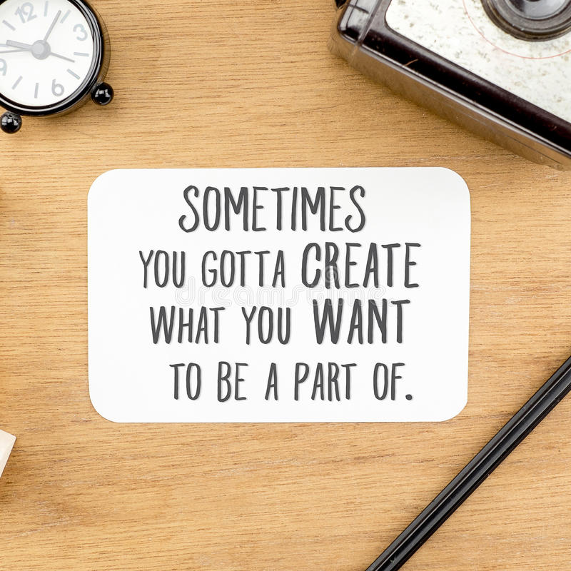 Inspiration quote : stock images