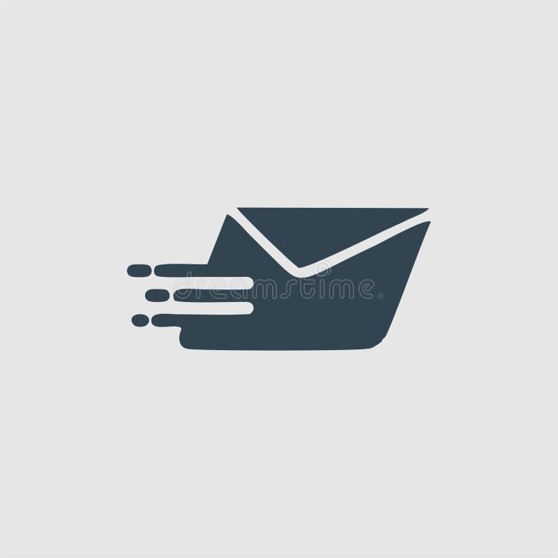 Inspiration rapide de logo de monogramme de courrier illustration stock