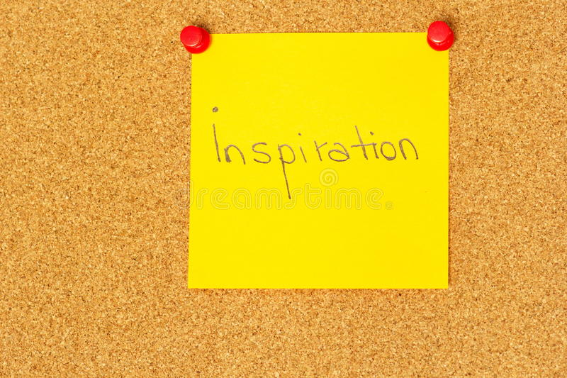 Inspiration stolpe-honom coarkboardbakgrund royaltyfria foton
