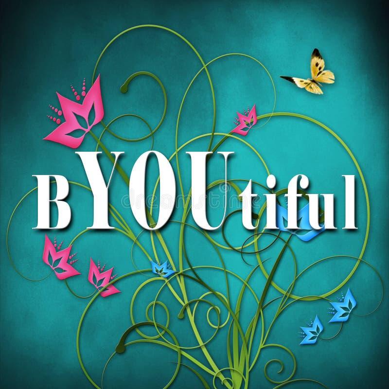 Download Inspirational Achtergrond - U Bent Mooi Stock Illustratie - Illustratie bestaande uit motieven, roze: 54091805