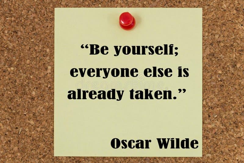 Inspirational citaat stock afbeelding