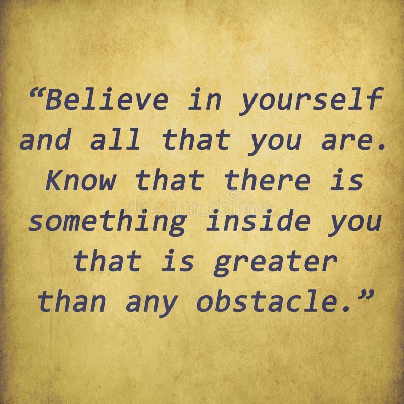 Inspirational citaat door Christian D. Larson op oude document bac stock illustratie