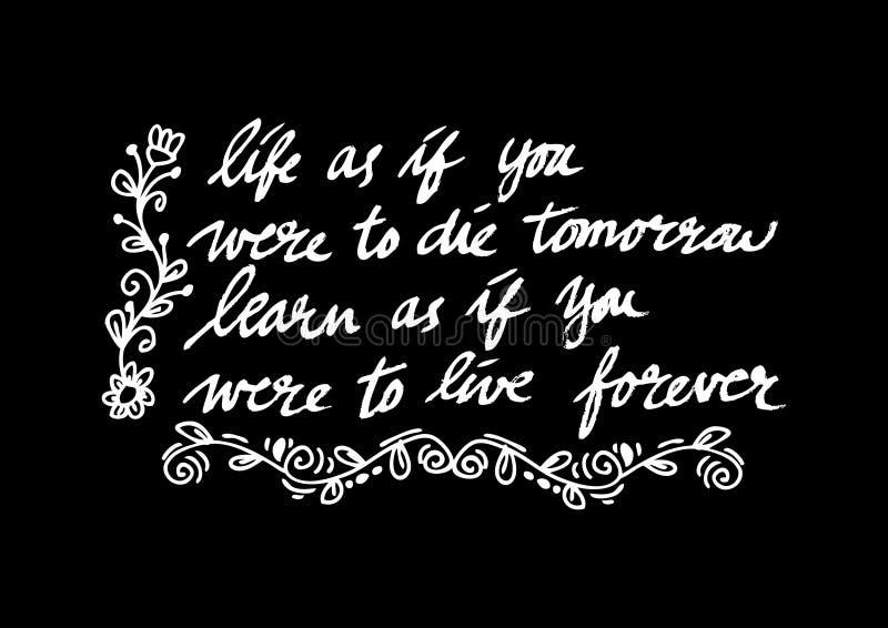 Inspirational citaat door Mahatma Gandhi vector illustratie
