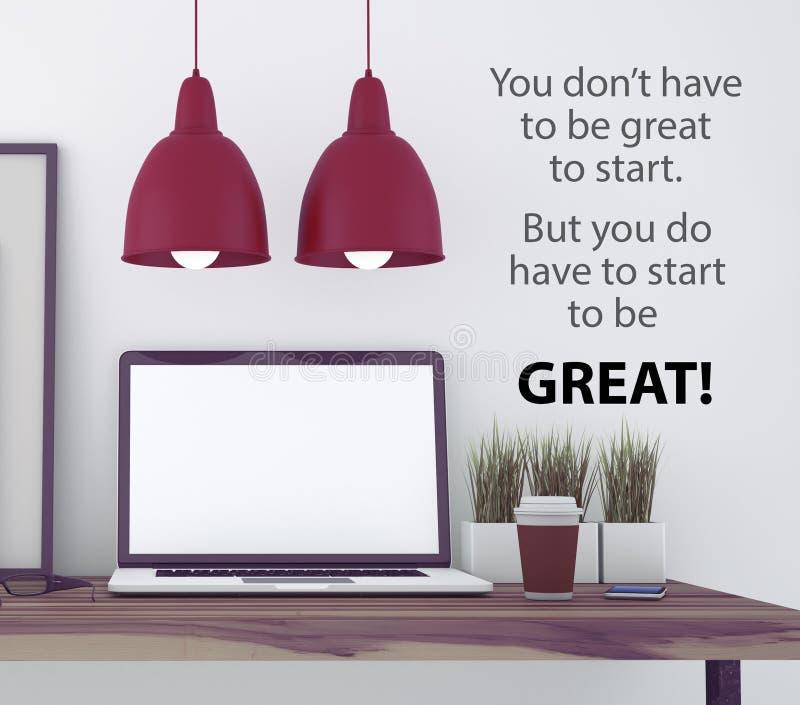 Inspirational citaat op muur vector illustratie