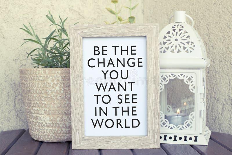 Inspirational citaat van het inspiratieconcept stock afbeelding