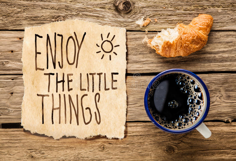 Inspirational early morning breakfast royalty free stock image