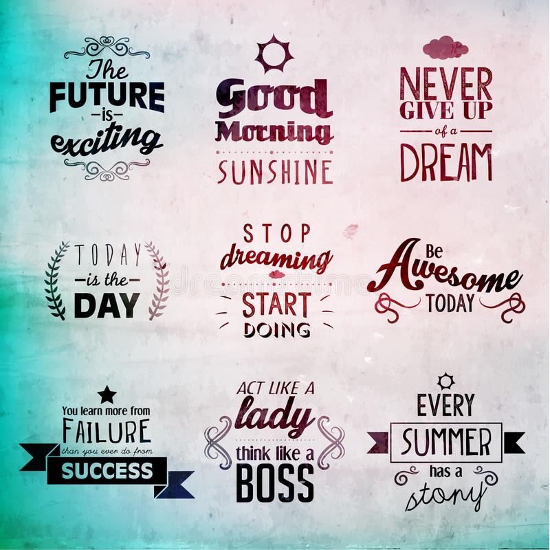 Inspirational and encouraging quote vector design. Inspirational and encouraging quote typography vector design stock illustration