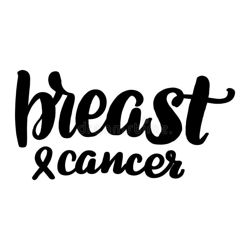 Lettering breast cancer vector illustration