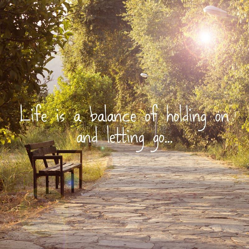 Inspirational Life Quote stock photo