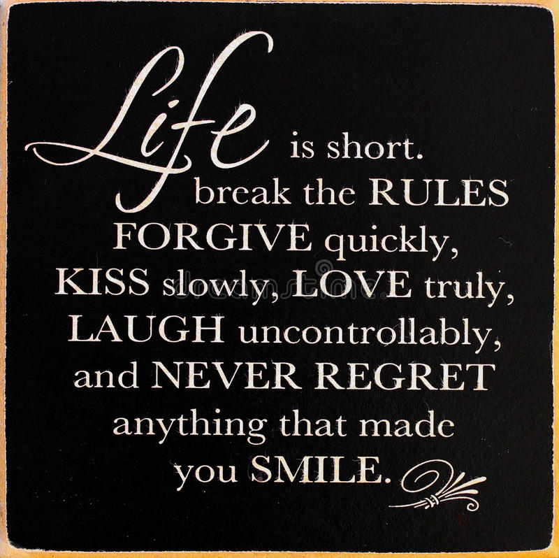 Inspirational Motivating Quote Stock Photo - Image of kiss, laugh ...