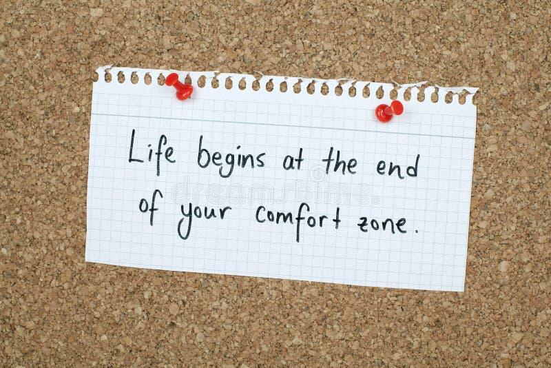 Inspirational Motivational Business Life Phrase Note stock image