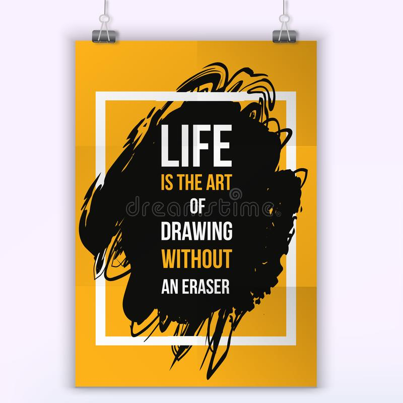 Inspirational Motivational Quote About Life. Typography Quote For T ...
