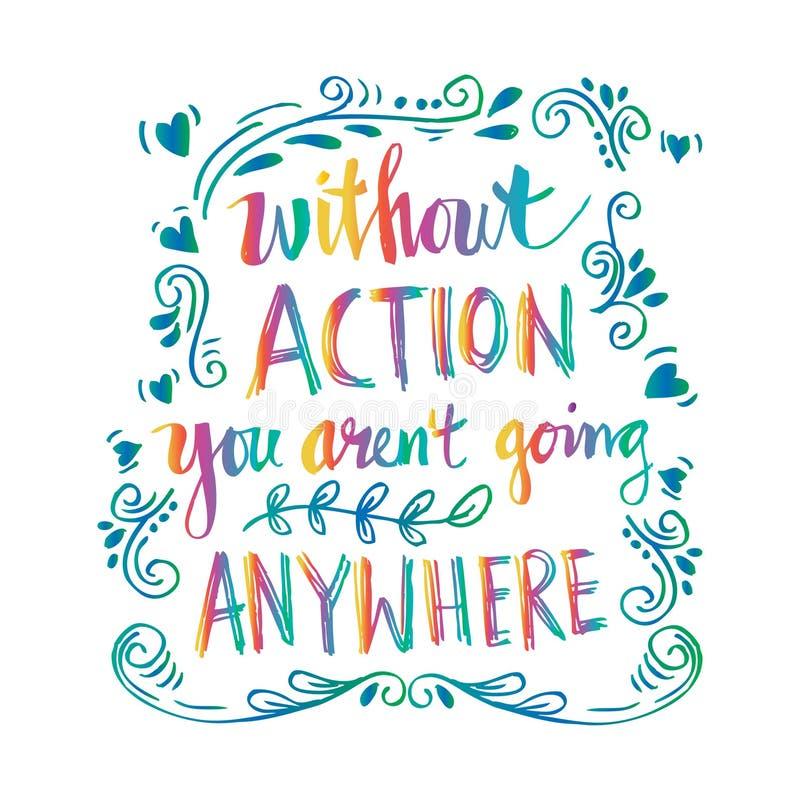 Inspirational motiverende citaten door Mahatma Gandhi royalty-vrije illustratie