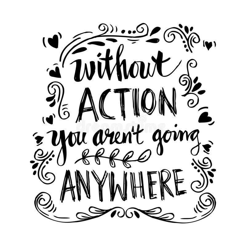 Inspirational motiverende citaten door Mahatma Gandhi stock illustratie