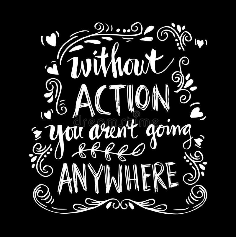 Inspirational motiverende citaten door Mahatma Gandhi vector illustratie