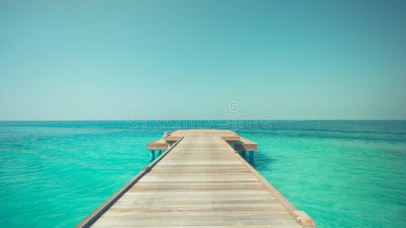 Inspirational overzeese en hemelmening met horizon en ontspannende kleuren stock afbeeldingen