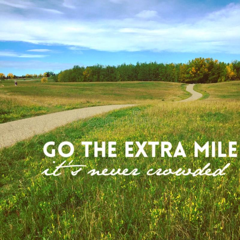 Free Inspirational Quote On Grass Field With Paved Trail Royalty Free Stock Photo - 113021515