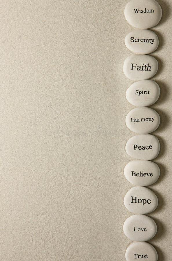 Inspirational stenen stock foto