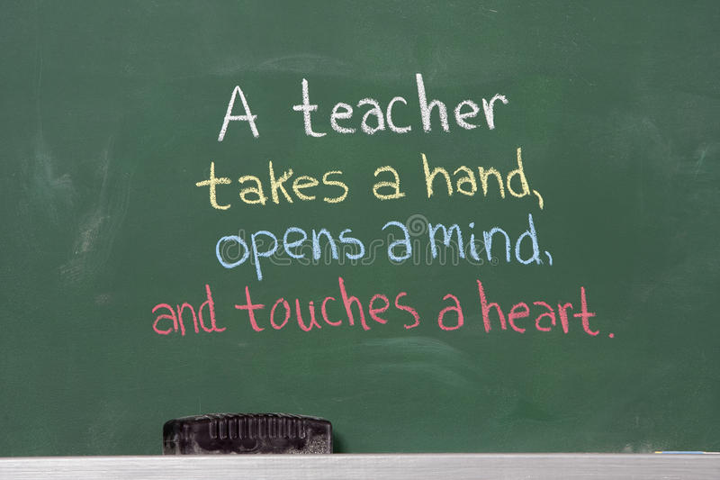Inspirational uitdrukking voor leraarsappreciatie royalty-vrije stock fotografie