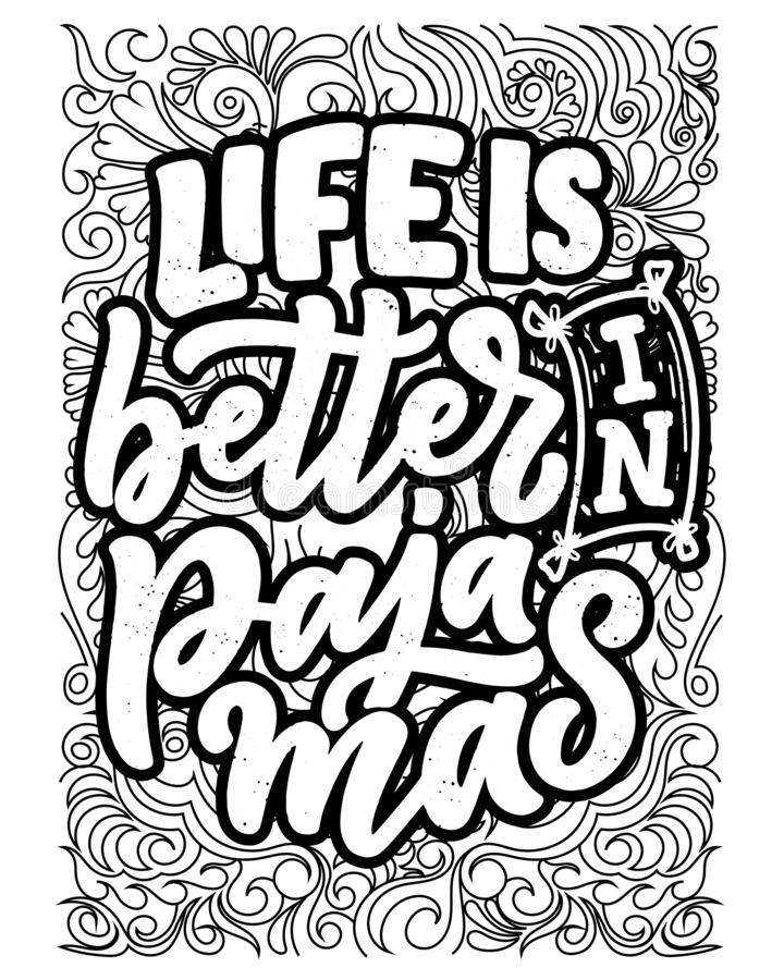 Inspirational Words Coloring Book Pages Motivational Quotes Coloring Pages Design Stock Vector Illustration Of Love Cute 183719317