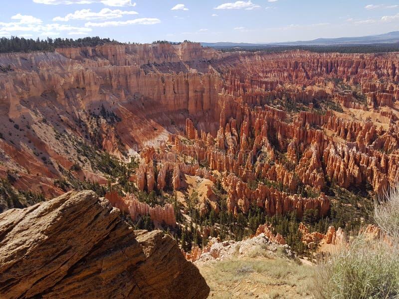Inspirationpunkt Bryce Canyon Utah Hoodoos arkivbild