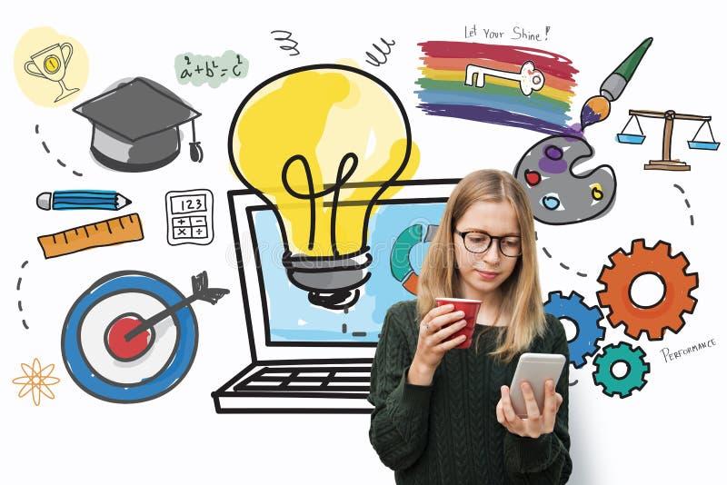 Inspirations-Aspirations-Quelldaten-Ideen-Ideen-Konzept lizenzfreie stockfotos