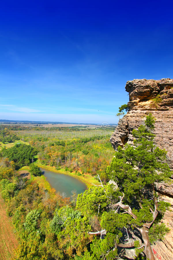 Inspirations-Punkt Shawnee National Forest stockbilder