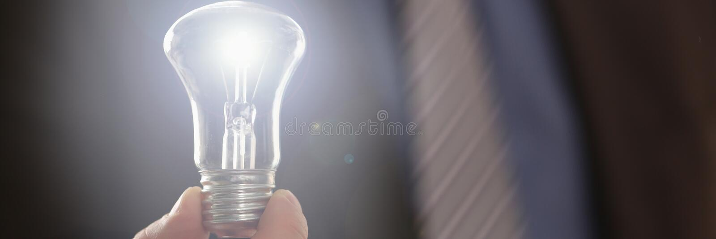Inspirations-Symbol, das elektrische Energie-Idee speichert lizenzfreie stockbilder
