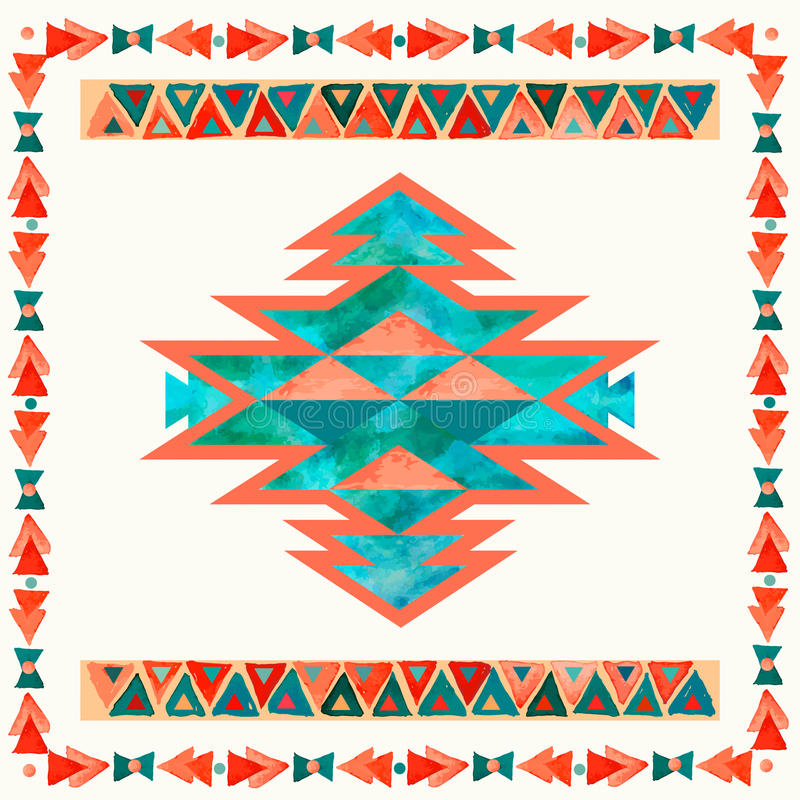 Inspirationsmuster des Navajos aztekisches Textil Gebürtiger Indianer lizenzfreie abbildung