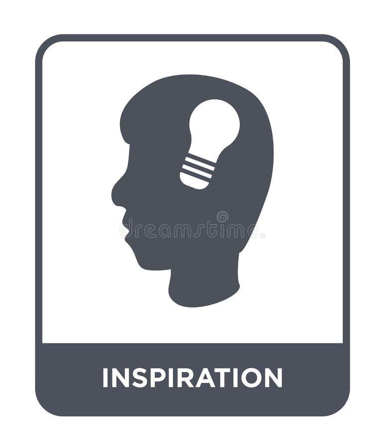 inspirationsymbol i moderiktig designstil inspirationsymbol som isoleras på vit bakgrund modern inspirationvektorsymbol som är en royaltyfri illustrationer
