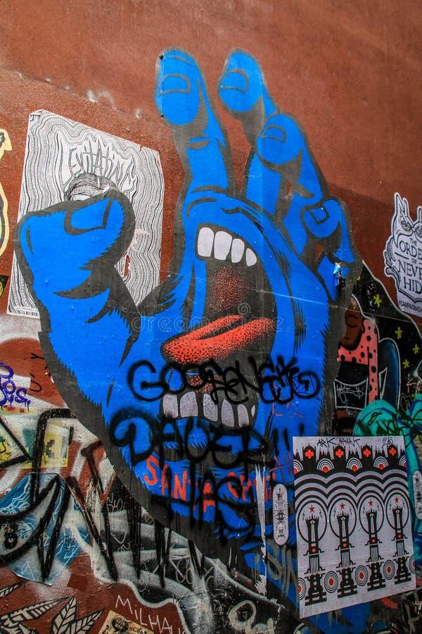 Inspirative Street art in Melbourne, Victoria, Australia stock photo