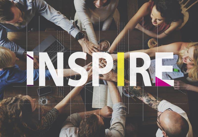 Inspire el concepto creativo del gráfico de la gente de las ideas fotografía de archivo libre de regalías
