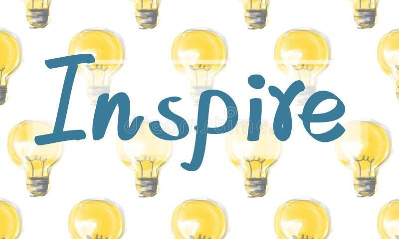 Inspire el concepto ideal de la innovación de la esperanza de las expectativas de la inspiración stock de ilustración
