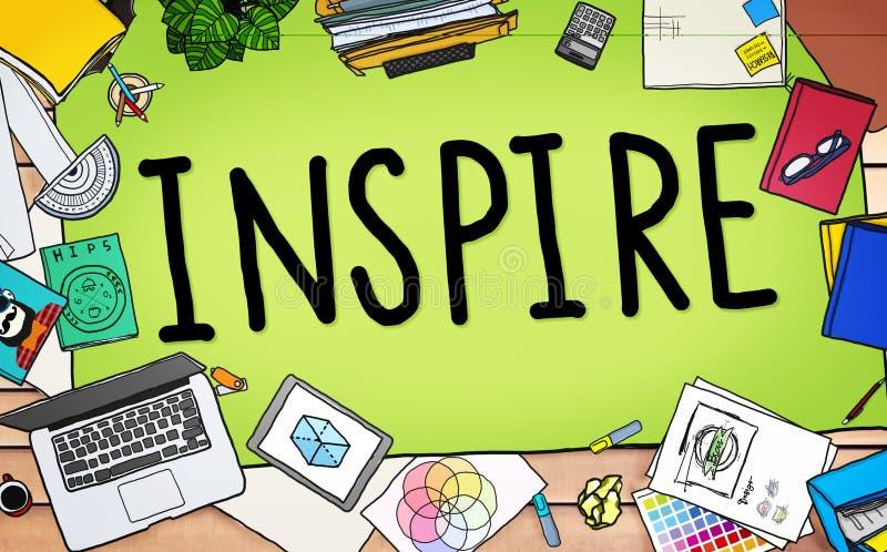 Inspire la imaginación de la inspiración de la creatividad de las ideas que piensa Concep ilustración del vector