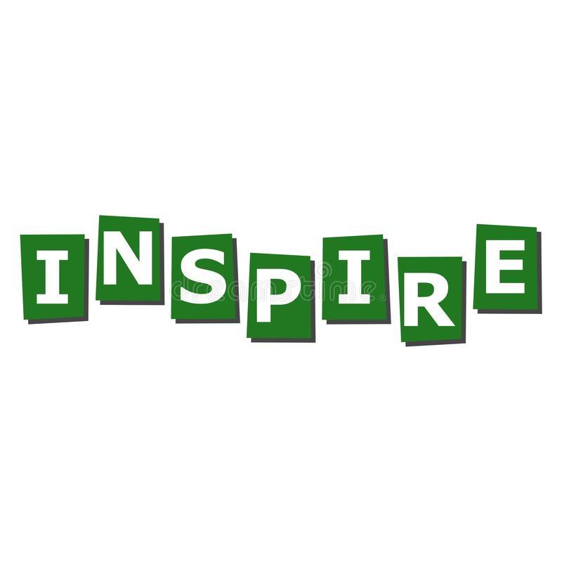 Inspire lettering icon royalty free illustration