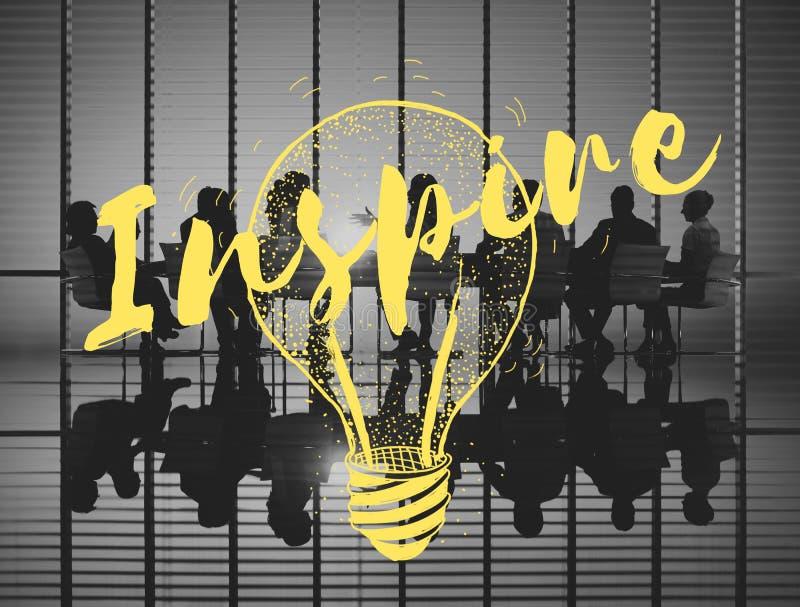 Inspire o conceito criativo da faculdade criadora da motivação da inspiração fotos de stock royalty free