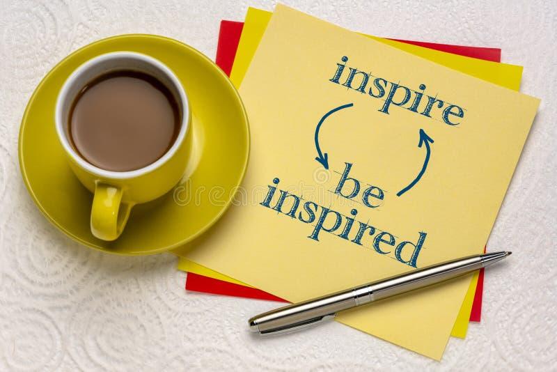 Inspire y sea concepto inspirado imagenes de archivo