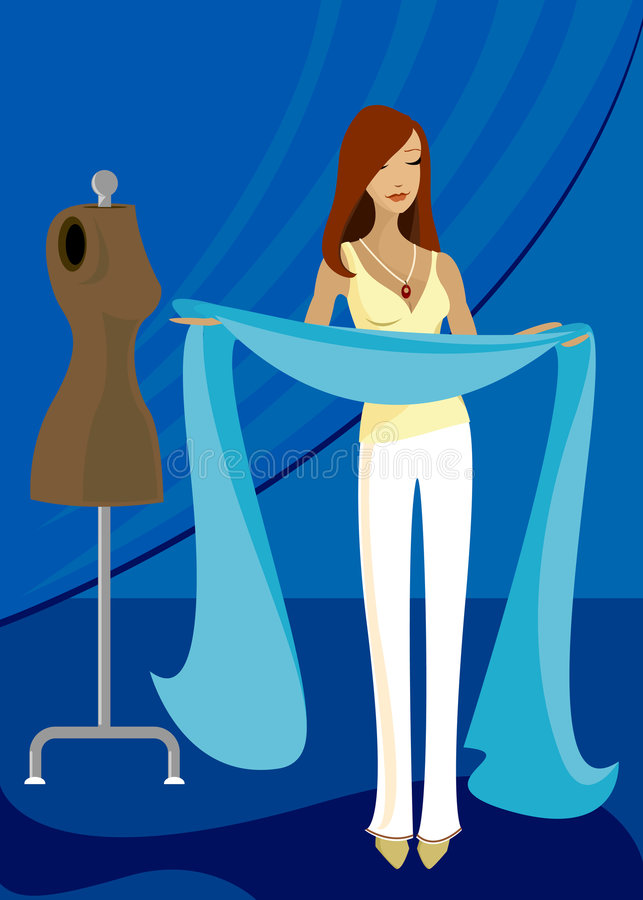 Download Inspired by Blue stock illustration. Image of seamstress - 819817