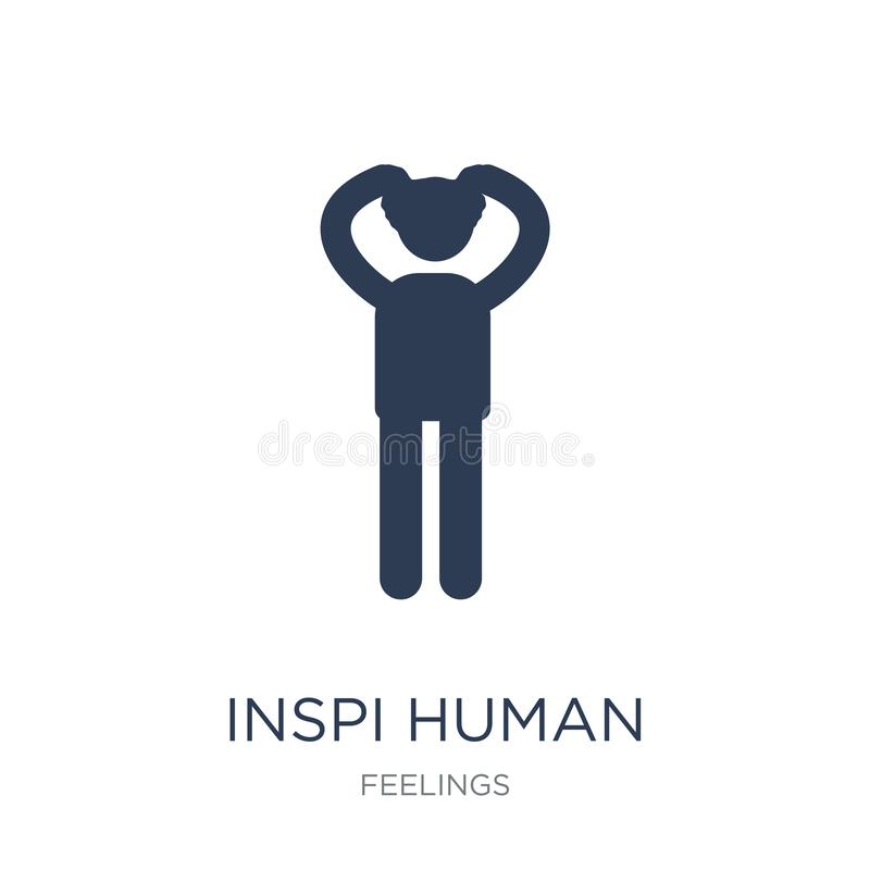 inspired human icon. Trendy flat vector inspired human icon on w royalty free illustration