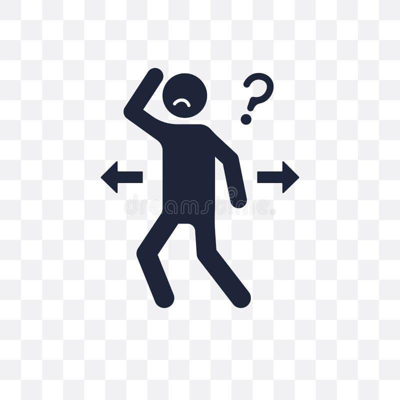 inspired human transparent icon. inspired human symbol design fr royalty free illustration