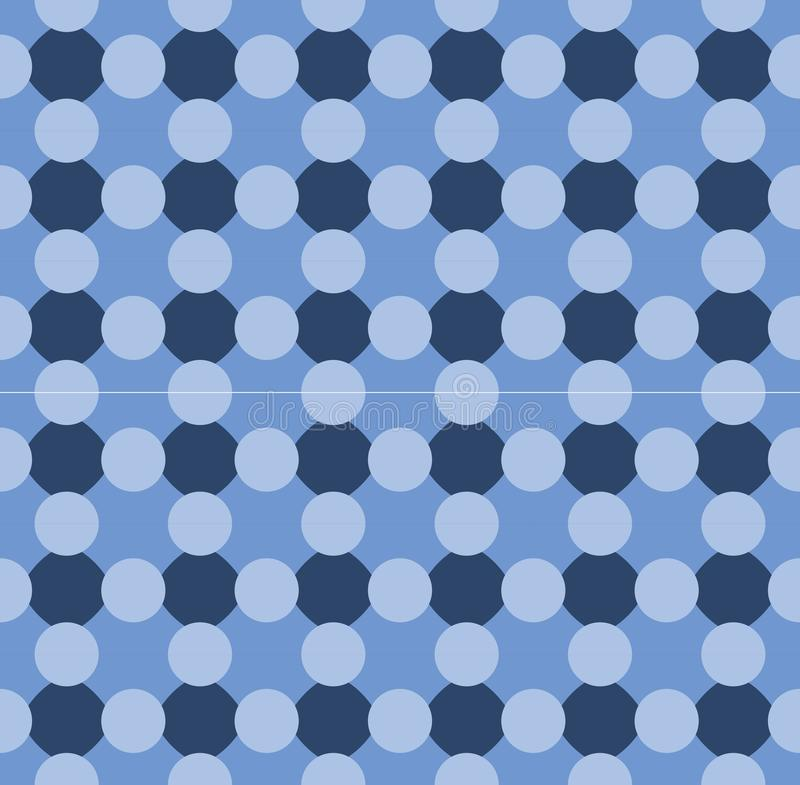 4-Point Blue Bubbles Seamless Repeat Pattern royalty free stock photos