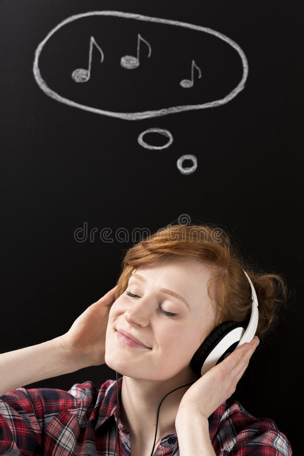 Inspired by the music sounds royalty free stock photography