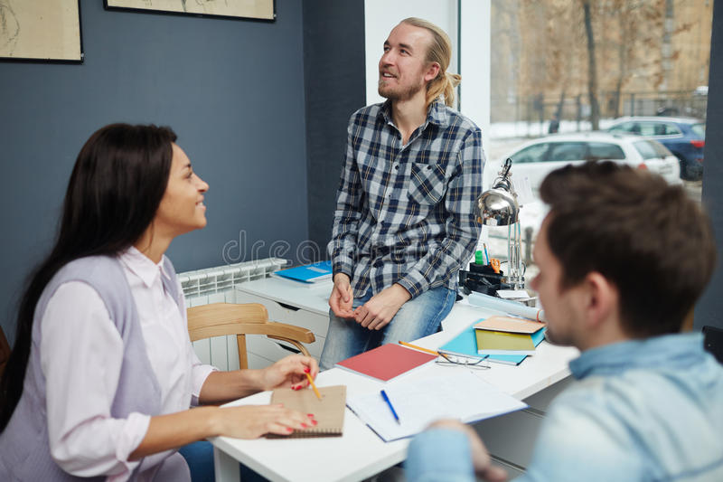 Inspired student stock image