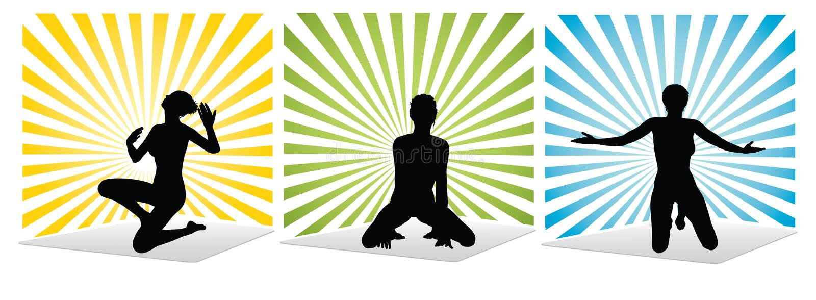 Download Inspired woman stock vector. Image of human, body, fitness - 11760764