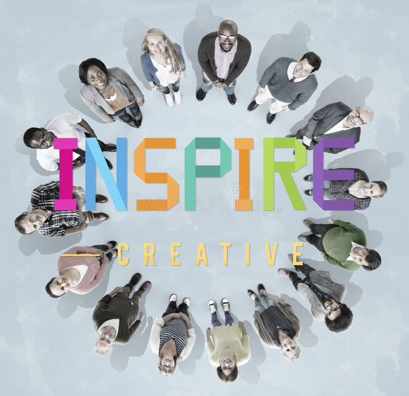 Inspireer Aspirant geloven de Aspiratievisie Concept vernieuwt royalty-vrije illustratie