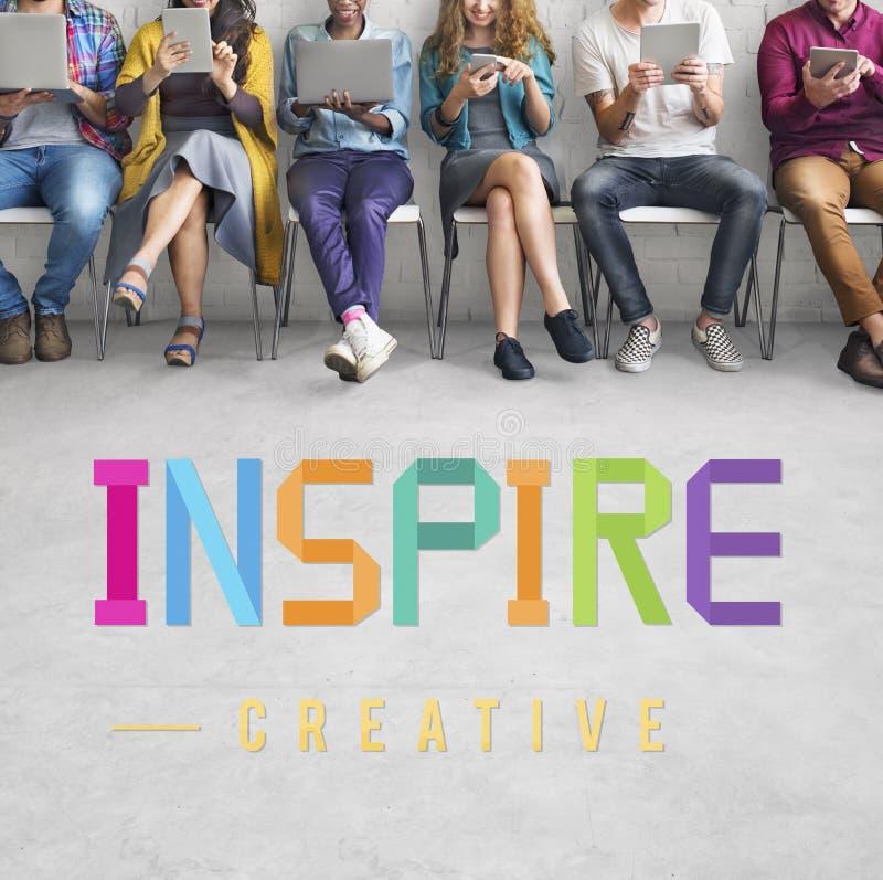 Inspireer Aspirant geloven de Aspiratievisie Concept vernieuwt stock foto's