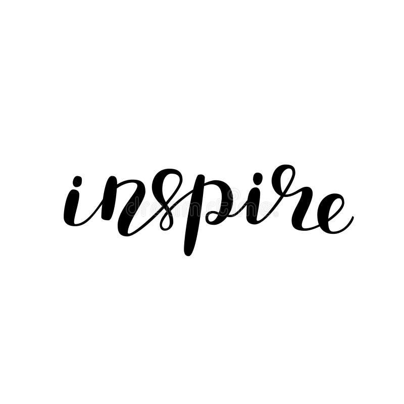 inspireer Borstel het Van letters voorzien stock illustratie