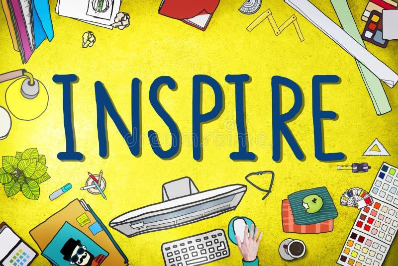 Inspireer de Inspiratieverbeelding van de Ideeëncreativiteit Denkend Concep vector illustratie
