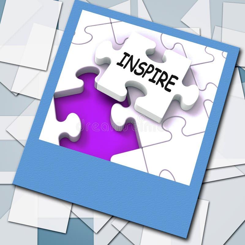 Inspireer Foto toont Originaliteitsinnovatie en Creativiteit op Web stock illustratie